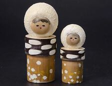 MIB Vintage Kokeshi Japanese Wood Doll Beautiful Handcraft Minoru Snow Child  B