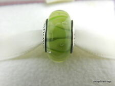 NEW! AUTHENTIC PANDORA GREEN LOOKING GLASS MURANO CHARM  #790925   P