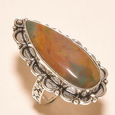 """X!MAS GIFT!NATURAL BLOOD STONE.925SILVER JEWELRY RING US&UK S-8""""KHR-608"""