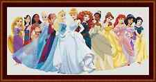 Disney princesses grande belle cross stitch kit