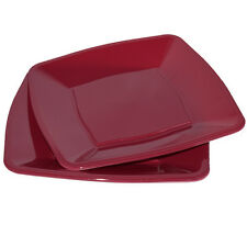 """30 X Rosso Vino Quadrato CENA PIATTI usa e getta in plastica 9""""/23cm - Party Supplies"""