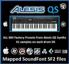 ALESIS QS : Samples Collection, ALL 384 Presets as Mapped SF2 Soundfonts files