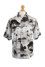 "Vintage Hawaiian Shirt Beach Stag Aloha Summer Multi Chest Size 46""-SH2199"