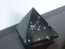 cristalloterapia PIRAMIDE OSSIDIANA FIOCCO DI NEVE cristallo FENG SHUI statua ki