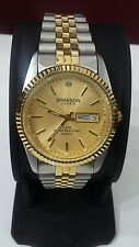 Swanson Mens Casual Watch, Gold Tone  Dial,  Day/date, 2 Tone Bracelet