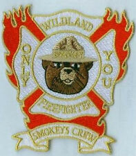 FIRE FIGHTER SHOULDER INSIGNIA Smokey's Crew Wildland Firefighter - ONLY YOU