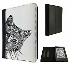 Cool Aztec Cat Cute Funky Fahion Case Flip cover For Kindle Paperwhite 6''