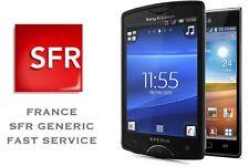 SONY XPERIA FRANCE SFR UNLOCK CODE