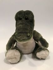 "Petting Zoo Alligator Plush 9"" Stuffed Animal 2014 Green Seated Gator Crocodile"