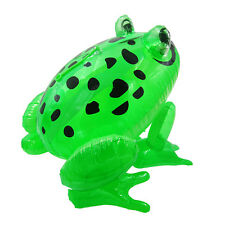 HOT!Baby Kids Funny Inflatable Frog With Eyes Glow Blow Up Animal Toy Child Gift