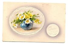 Vintage Happy New Year Raised Postcard Posted 1906 Good Condition No. 98