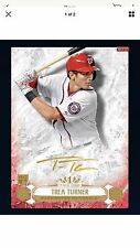 Topps Bunt Tier One GOLD Signature Trea Turner 5cc Washington Nationals Digital