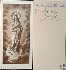 OLD BLESSED VIRGIN MARY HOLY CARD ANDACHTSBILD SANTINI ESTAMPA SEE MY SHOP CC621