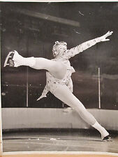 ANTIQUE ARTISTIC ABSTRACT ART FIGURE SKATING POSE SONJA HENIE MAMMOTH OLD PHOTO