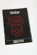 Vivitar 285 HV Flash Unit 285HV Instruction Manual+English++Original+NICE