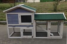 "New 58"" Deluxe Wood Hen Chicken Duck poultry Hutch Pet House Coop Cage with Run"