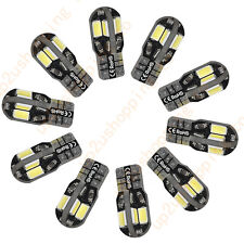 10 x Canbus Error Free T10 White 8 5730 SMD LED Car Side Wedge Light Lamp Bulb