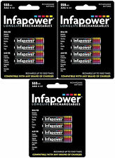 3 x 4 Pcs Pack Infapower B009 Rechargeable AAA Ni-MH Batteries 550mAh - New