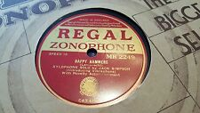 XYLOPHONE SOLO JACK SIMPSON HAPPY HAMMERS REGAL ZONOPHONE MR2249