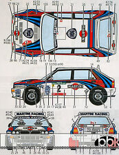 1/24 LANCIA SUPER DELTA MARTINI ACROPOLIS 1000 LAKES SAFARI RALLY 1992 DECAL