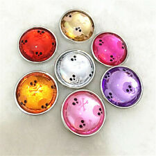 6pcs18mm Mix Skull Snaps Chunk Charm Button FIT For NOOSA Leather Bracelets DIY