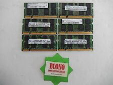6GB (6X1GB) PC2-5300 2xR8 DDR2 RAM Memory For Laptop