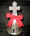 INTERNATIONAL SILVER COMPANY SILVER PLATE 1998 CHRISTMAS BELL W CROSS DESIGN VGC