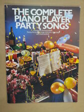 Piano the complete piano player parti chansons k. bake