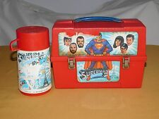 VINTAGE 1980 PLASTIC LUNCH BOX SUPERMAN II with THERMOS