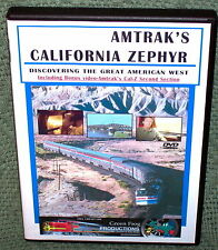 "cp025 TRAIN VIDEO DVD ""AMTRAK'S CALIFORNIA ZEPHYR"" VOL. 1 & 2"