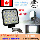 20x 48W Flood Lamp Led Work Light Boat 12V 24V Tractor Truck Offroad 4x4 UTE 4WD