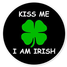 "Kiss Me I'm Irish car bumper sticker 4"" x 4"""