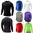 Mens Compression Armour Base Layer Top Long Sleeve Thermal Gym Wear Sports Shirt