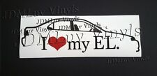 I love my EL 96-00 Sticker decal JDM Honda Acura el Domani  B18 B16