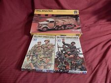 1/35 3 Lot Opel Maultier German DAK Diorama & Tamiya 8 DAK w/8 Assault Soldiers