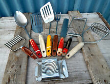 Large Lot of Mixed Vintage 1950s Kitchen Utensils - Kitchenalia - Shabby #2