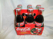 1996 Limited Edition Christmas Six Pack Glass Classic Coca Cola Bottles