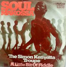 "7"" 1973 AFROBEAT GERMAN PRESS RARE VG+++ ! SIMON KENYATTA TROUPE : Soul Makossa"