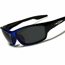 Athletic Baseball Golf Cycling Running Black & Blue Polarized Sport Sunglasses