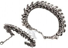 Alchemy Gothic 3oz Dark Predator Spinal Vertebrae Semi-Articulated Men's Bangle