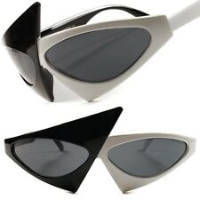 White Black Fancy Celebrity Unique Vintage Retro Funky Womens Cat Eye Sunglasses