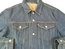 Levis Vintage Mens XXL Dark Wash Denim Retro Trucker Jean Jacket XXL 2XL