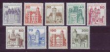 Berlín 1977 post fresco libre de marcas castillos y cerraduras MINR. 532-540