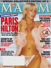 Maxim Magazine April 2004 Paris Hilton Allison Dunbar The Osama Interview