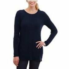 Nautica Ladies Cable Tunic Sweater Color- Navy US Size M NWT