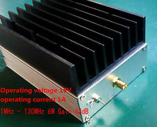 1MHz - 130MHz 6W 43dB ultra-wideband RF amplifier HF amplifier linear amplifier