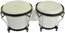 "Chord 176.424UK BG67 Bongos 6.5"" and 7.5"" Diameter with Tunable Hide Heads White"