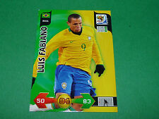 LUIS FABIANO BRASIL PANINI FOOTBALL FIFA WORLD CUP 2010 CARD ADRENALYN XL