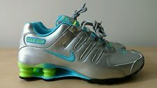 New Nike Women's Shox NZ Running Shoes Size 8 488312-022 Metallic Silver Flynit