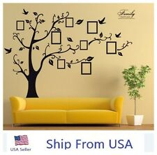 Large Photo picture Frame Family Tree Removable Wall Stickers Vinyl Art Decal